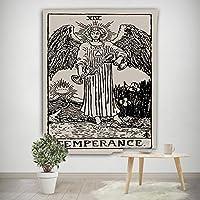 タロットカードタペストリー, 占星タロット壁装飾フィギュアレトロな装飾布掛かるビーチタオルテーブルクロスベッドスプレッド用毛布-v 150x200cm(59x79inch)