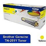 Yellow Printer Toner Cartridge TN-251 Yellow Toner for Brother HL-3150CDN, HL-3170CDW, MFC-9140CDN, MFC-9330CDW, MFC-9340CDW, Yellow, (TN-251Y)