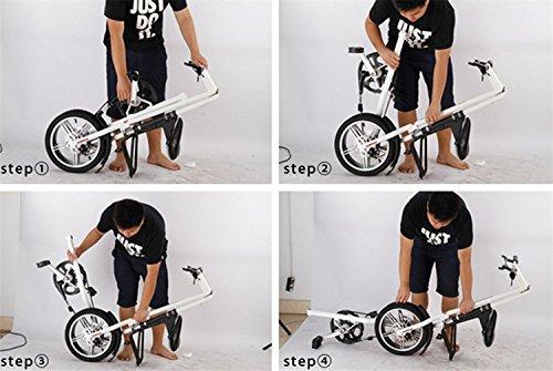 16インチ 折りたたみ自転車 折畳自転車 おりたたみ自転車 MTB おりたたみ自転車W960 レッド