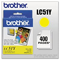 Brother - LC51Y Innobella Ink, 400 Page-Yield, Yellow LC51Y (DMi EA by Brother