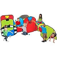 PlayhutスーパーPlayground再生テント、レッド/ブルー/グリーン
