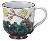 九谷焼 「花暦」 12ヶ月の マグカップ (11月) 石蕗 N49-11