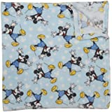 Disney Mickey Mouse Single Sided Flannel Fleece Blanket, Stars Print