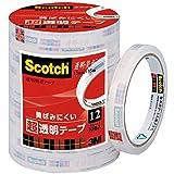 3M スコッチ 黄ばみにくい超透明テープ 12mm×35m 10巻 芯76mm BK-12