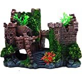 REALAQUA Aquarium Ornaments Resin Ancient Castle Decoration Fish Tank Supplies Accessories Eco-Friendly Castle Aquarium Ornament