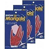 マリーゴールド ゴム手袋 キッチングローブ 【3個セット】 Mサイズ