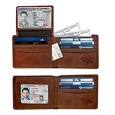 Bryker Hyde Men's 2 ID Window RFID Wallet Bifold Wallet