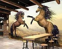 KAHSFA 3Dの壁紙壁紙動物の背景壁画馬3Dのリビングルームのベッドルームテレビの背景の壁の壁紙