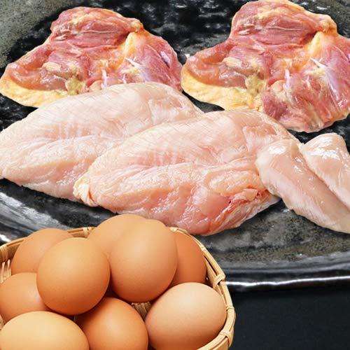 水郷のとりやさん 朝引き朝どりセット お試しセット ( 水郷どり もも肉2枚 胸肉2枚 ささみ2本 放し飼い自然卵12個(10個+破損保障分2個)) 【冷蔵限定 冷凍商品と同梱不可】
