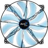AeroCool エアロクール PCケースファン Silent Master 20cm 青色LED搭載 ブルー EN55642