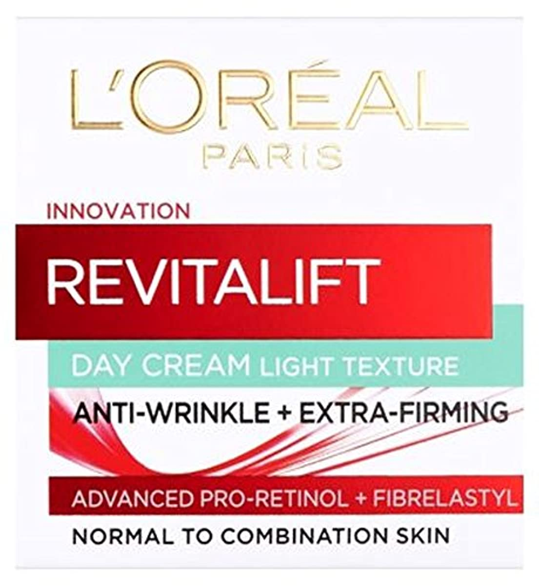 ハグピック抑止するL'Oreall Paris Revitalift Day Cream Light Texture Anti-Wrinkle + Extra Firming 50ml - L'OreallパリRevitalift日クリーム...