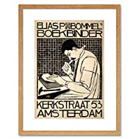 Advert Bookbinder Van Bommel Amsterdam Netherlands Framed Wall Art Print 広告本オランダ壁