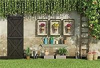 Qinunipoto イースターエッグ 写真撮影用 イースター 背景布 撮影 背景 布 写真 卵 撮影用 人物撮影 商業用 中庭の眺め 草原 緑の植物 雰囲気 スタジオ ライブルーム 自宅用 ポリエステル 洗濯可 1.8x1.2m