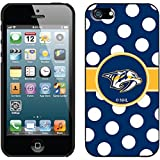 Coveroo Thinshield Snap-On Case for iPhone 5s/5 - Retail Packaging - Black/Nashville Predators NHL Polka Dots [並行輸入品]