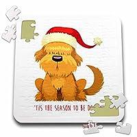 ラス・ビリントン・デザインクリスマスデザイン–キュートクリスマスShaggy Dog Illustration–10x 10インチパズル( P。_ 251807_ 2)