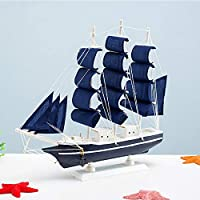 飾り木製ヨットスイング、ボート、ボート、ボート、スムーズセーリングボート、カービングギフト。