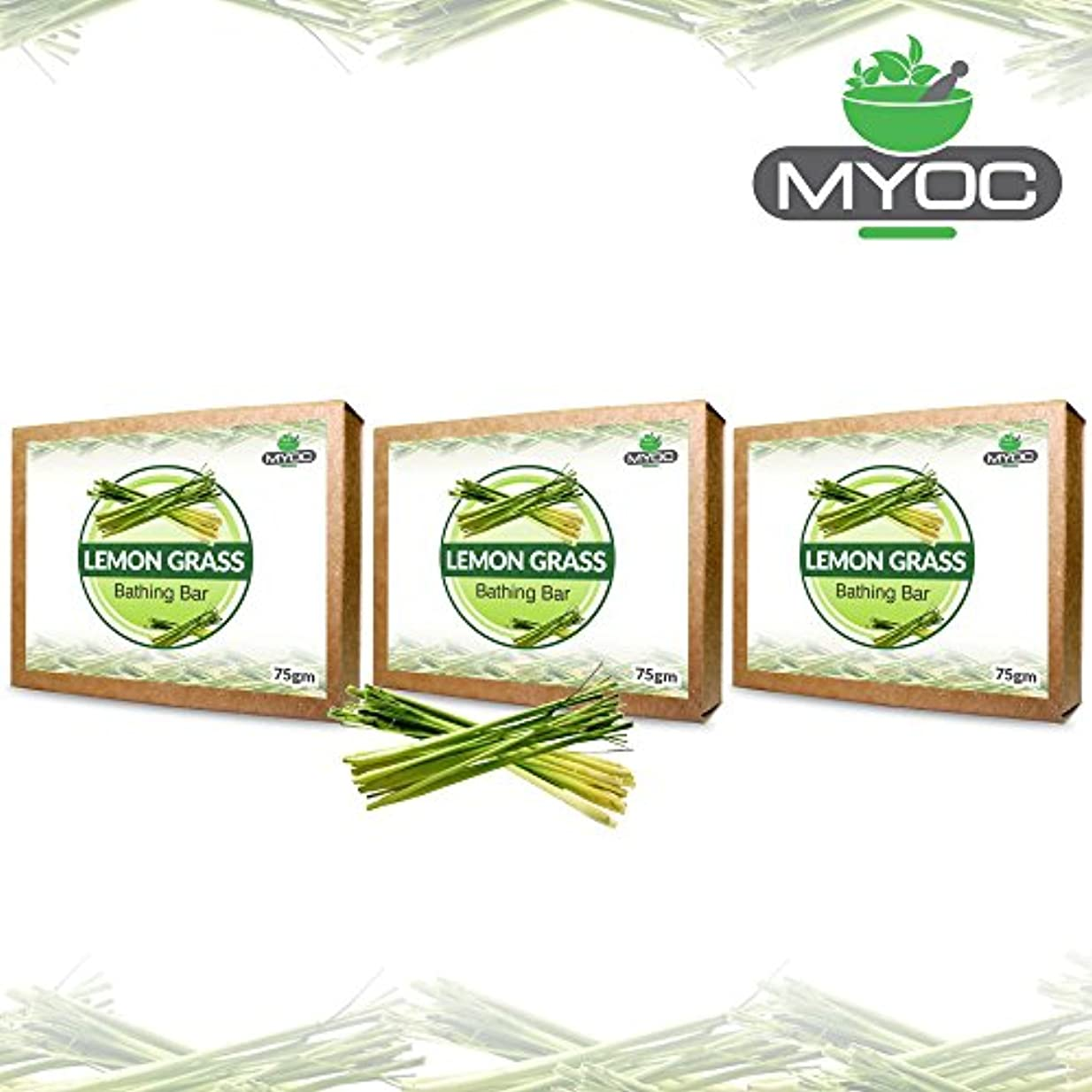 好戦的な休みみLemon Grass Oil And Vitamin E Soap for acne, bad odour, wrinkles and good hair 75g x 3 Pack