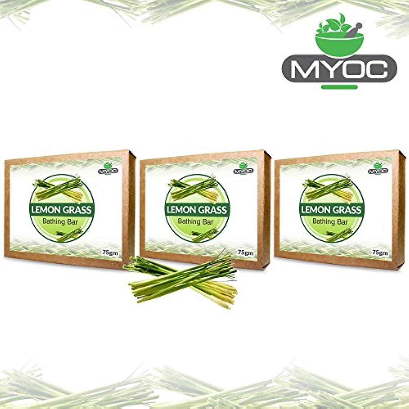海舌な離れてLemon Grass Oil And Vitamin E Soap for acne, bad odour, wrinkles and good hair 75g x 3 Pack