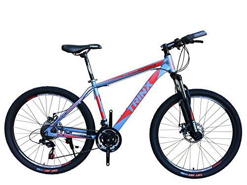 TRINX(トリンクス) 【マウンテンバイク】 ダブルディスク SHIMANO21SPEED 軽量アルミAL6061 MTB 26インチ M136 グレー/レッド