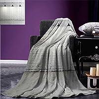 """Throw Blanket抽象ホームインテリアコレクションPeacock Bird Tail Feather PlumeペイズリーパターンOrnamental装飾イメージ暖かいマイクロファイバーベッドやソファのすべてのシーズン毛布50"""" x30""""パープルグリーン 90""""x90"""""""