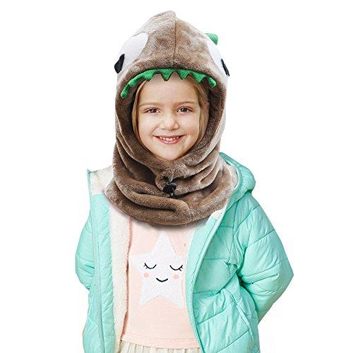 ニット帽子 Eleovo 赤ちゃん 子供 ニット帽 ベビー & キッズ 可愛い恐竜 (ブラウン)