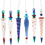 Fun Express Oriental Trading Company Glass Icicle, Multi Color, 12 Count