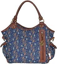 Isoki Canvas Hobo Angel Harmony Bag, Brown and Blue