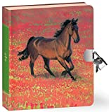 Peaceable Kingdom Wild Horse 6.25 Lock and Key Lined Page Diary for Kids [並行輸入品]