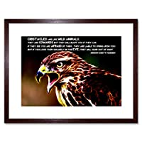 Quote Marden Obstacle Wild Animal Motivation Framed Wall Art Print 見積もり動物動機壁