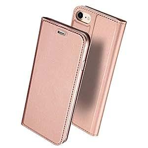 iphone6s ケース 手帳型 高級PU レザー iPhone6 ケース カバー 耐衝撃 カード収納 マグネット スタンド 機能付き 耐摩擦 人気 おしゃれ アイフォン6 手帳型ケース (iPhone6s/6, ローズゴールド)