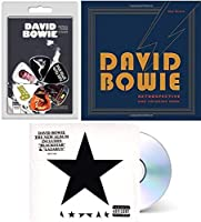 Thin White Duke Rock Star David Bowie Guitar Picks + Pop Coloring Retrospective book Blackstar Music 3 Pc Bundle [並行輸入品]