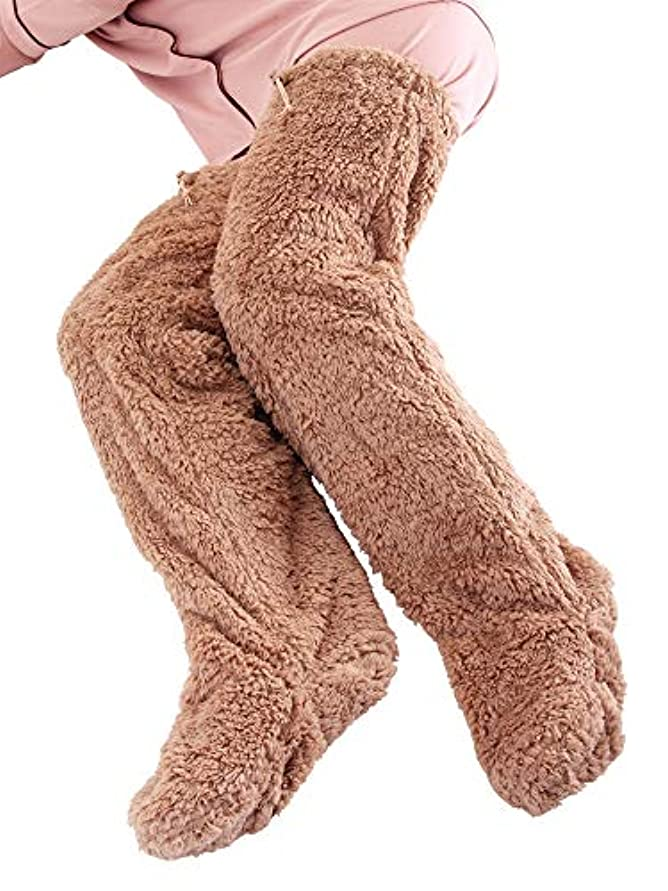 極暖 足が出せるロングカバー ストッパー付き ブラウン?Mサイズ