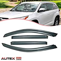 AUTEX 94063 Original Window Visor Deflectors for 2008 2009 2010 2011 2012 2013 Toyota Highlander Vent Visor Rain Guards Made in Taiwan [並行輸入品]