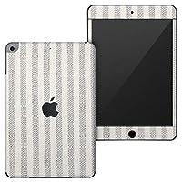 igsticker iPad mini 4 (2015) 5 (2019) 専用 全面スキンシール apple アップル アイパッド 第4世代 第5世代 A1538 A1550 A2124 A2126 A2133 シール フル ステッカー 保護シール 008340 チェック・ボーダー 灰色 グレー ストライプ 模様