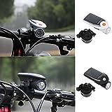 4超高輝度LED USB 2.1充電式ソーラーLEDライト 自転車ledライト ソーラー フロントヘッドライト ヘッドライト ランプ ホワイト