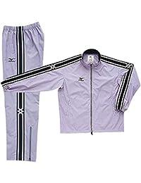 ミズノ(MIZUNO) ウインドブレーカーシャツ&パンツ 上下セット(グレー/グレー) A60WS830-05-A60WP830-05