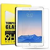 DOSMUNG iPad Air 1/2/Pro 9.7インチ液晶保護 強化ガラス フィルム、スクリーンプロテクター、高精細度、クリスタルの透明性、9H硬度、新設計 ガラス飛散防止 傷防止 指紋防止 気泡ゼロ スーパースムーズ