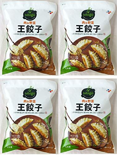 015734-4P bibigo ビビゴ 肉の野菜 冷凍 王餃 5種の野菜、春雨、豆腐入りの韓食餃子 1kg×4個