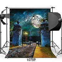 GooEoo 5x7ftハロウィンビニール写真の背景写真の背景月夜子供のための背景10759