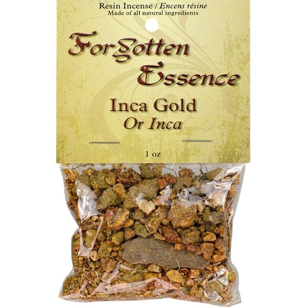 透明に学者クラッシュThe New AgeソースForgotten Essence樹脂Incense Inca Gold 1 oz ゴールド 73307