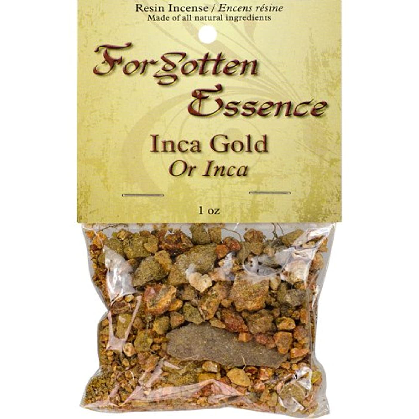 ランチョン推進力ジュニアThe New AgeソースForgotten Essence樹脂Incense Inca Gold 1 oz ゴールド 73307