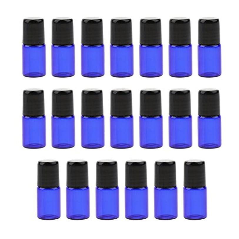 識別する仕立て屋回復するエッセンシャルオイル ボトル ガラス ローラーボール 香水ボトル 詰め替え可能な 3サイズ選べ - 2 ml