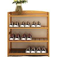 靴ラックバンブーマルチレイヤーアセンブリシンプルなホームシューボックスボックス収納ラック現代のシンプルさ棚 (色 : 4 layer, サイズ さいず : 68cm)