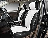 120906sブラック/ white-2フロント車のシートカバークッションレザーLikeビニール、互換toトヨタFJクルーザー2017& 2016& 2015& 2014& 2013