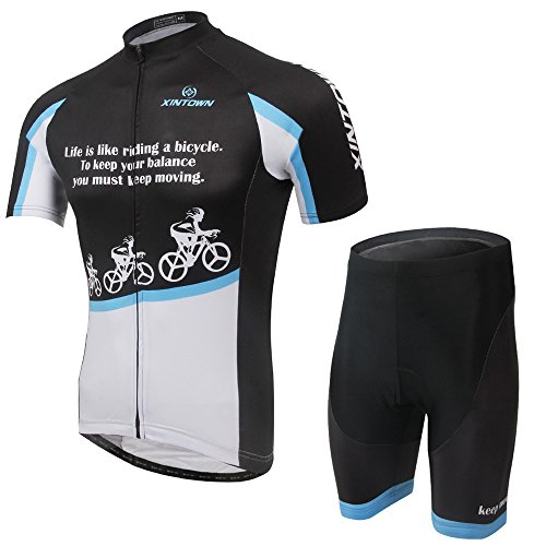 UMIZAR 夏用 サイクリングジャージ 半袖 上下セットx17ss01_BB_2XL