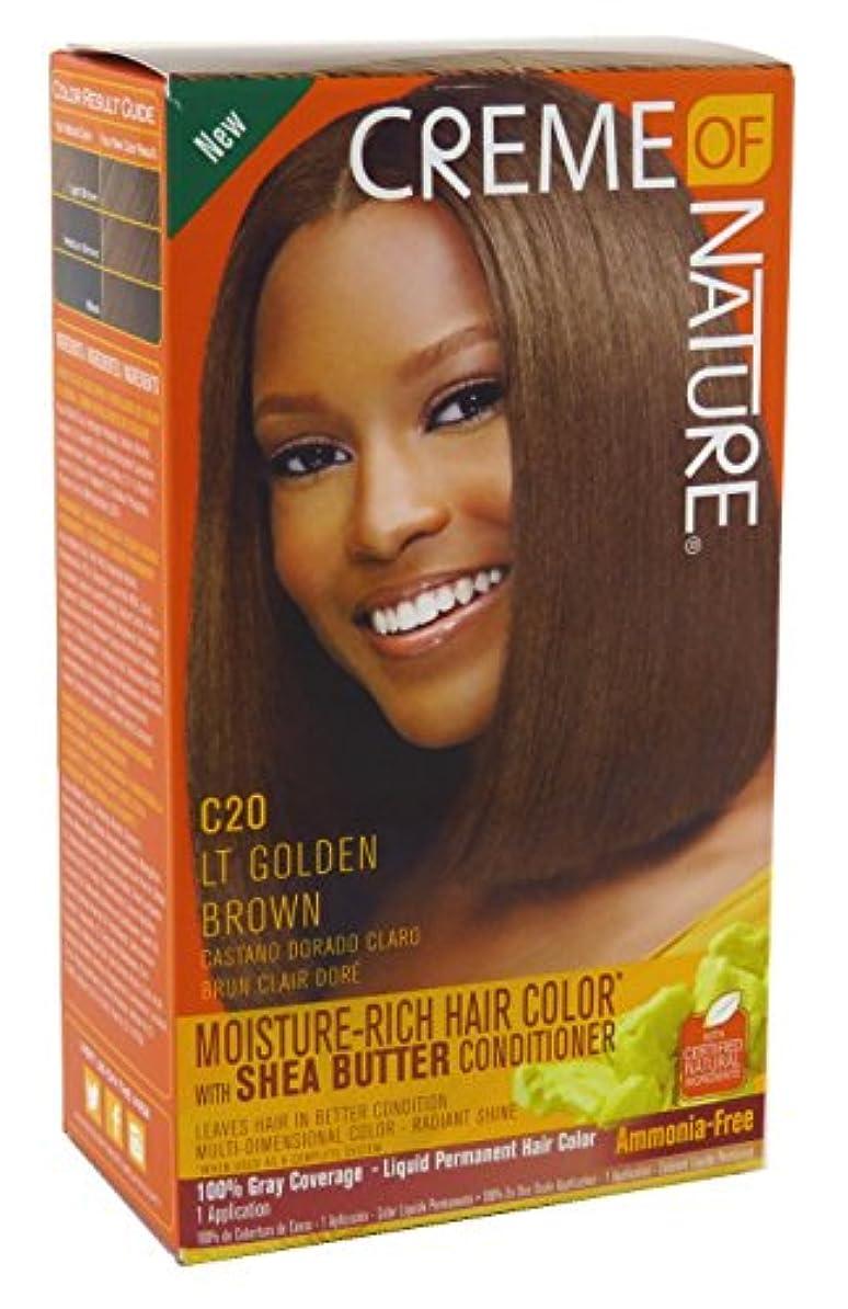 洗練された入るためらうCreme of Nature 色C20ライトゴールデンブラウンキット(2パック)