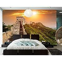 Wuyyii カスタム3D壁画、中国の万里の長城の自然の壁紙、レストランのリビングルームのソファテレビの壁の寝室の壁紙-200X140Cm