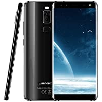 Leagoo S8-5.7インチ 18:9 大画面 4G FDD-LTE スマートフォン, アンドロイド7.0 オクタコア 3GB 32GB, 4 ンカメラ 13MP+2MP & 8MP+2MP, 指紋 ID, デュアルSIM, アンロック フルスクリーン 携帯電話