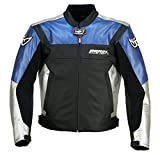 BERIK COW LEATHER JACKET LJ-10718-BK BLUE 50