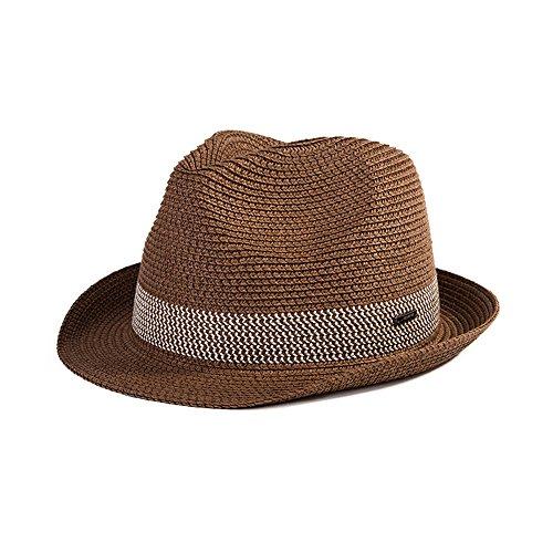 (シッギ)Siggi  おしゃれ パナマハット 中折れハット ストローハット 麦わら帽子 紳士帽子 メンズ 春夏 メッシュ フリーサイズ UV ゴルフ コーヒー 57cm 58cm 59cm